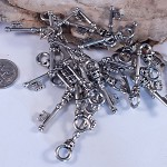 Antiqued Silver Keys x10