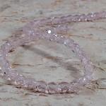 50x Czech Fire Polish Beads 4mm - Pink