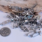Brooch Pins 20mm Silver colour x20