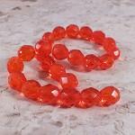 25x Czech Fire Polish Beads 8mm - Hyacinth Orange