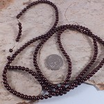 1xstrand Glass Pearl beads 4mm - Brown