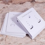 White Earring Display Cards x 50