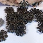 Vintage Floral Bead Caps