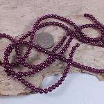 1xstrand Glass Pearl beads 4mm - Purple