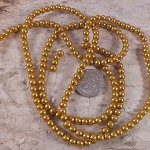 1xstrand Glass Pearl beads 4mm - Gold