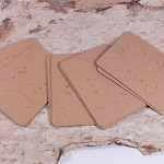 50x kraft coloured display earring cards