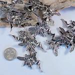 10 Large Silver Fairy / Angel Pendants
