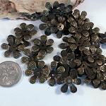 Vintage Petal Bead Caps