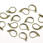 20 Antique Bronze Lever Back Earring Wires