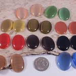 20x Mixed colour Cats Eye Cabochons 25x18mm - perfect for earrings