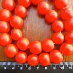 14mm Resin beads solid orange 1 x strand of 30