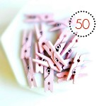 Pastel Pink Mini Wood Pegs {50} | Paperclips Gift Wrap Scrapbooking