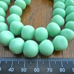 Resin nuggets solid mint 15 x 10 mm approx 34 per strand