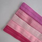 5 Beautiful Pinks Soft Elastic Headbands