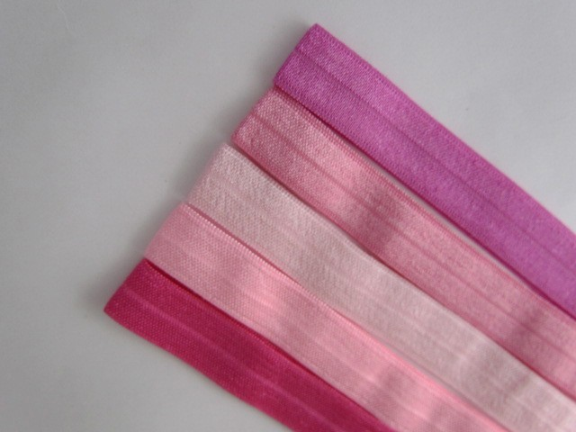 5 Beautiful Pinks Soft Elastic Headbands