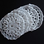 NEW 5 White Vintage Doilies / Doily. New size! Limited supply