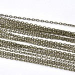 10m Bronze Tone Flat Link-Opened Chain 3x2mm