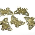 20 x Bronze Tone Filigree Butterfly Charm Pendants