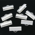90 Textured End Cap Crimp Beads 16x7mm