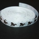 "3/8"" HORSE GROSGRAIN RIBBON - 1 M"