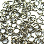 500+ Bronze Tone Open jump rings 5mm