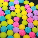 MIXED RESIN FLOWERS - 100 pack