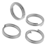 22g approx 400 Double Loop Silver jump rings 6mm
