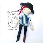 Pirate Doll Sewing Pattern - PDF Softie Pattern - Pegleg Pirate