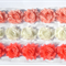 Tropical Sunrise Trio - 18 SMALL shabby chiffon flowers - for hairclips & craft.