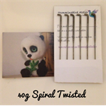 Felting Needles 40 gauge spiral twisted set of 6
