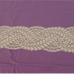 Stretch lace 10cm wide in cream leaf pattern ready to dye