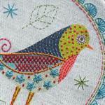 Nancy Nicholson Embroidery Kits - Birdie 1