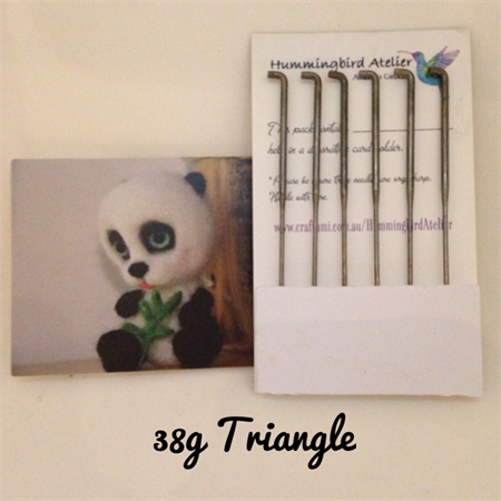 Felting Needles 38 gauge Triangle set of 6