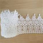 80mm Vintage white embroidered lace