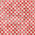 Patchwork - Quilting Fabric - Fat 1/4 - Red & White Squares and Stars