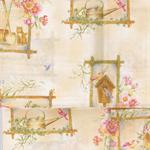 Patchwork - Quilting Fabric - Fat 1/4 - Garden Windows on Cream Background.