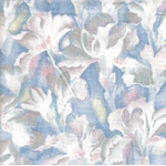 Patchwork - Quilting Fabric - Fat 1/4 - Iris Flowers - Blue, Pink and Cream