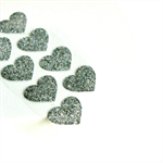 🔴Silver Heart Stickers {54} Glitter Gift Seals Wedding Engagement Events