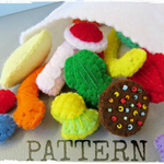 Digital Pattern - Mixed Lollies - Felt play food - Pick and Mix