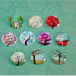MIXED 20MM GLASS CABOCHONS