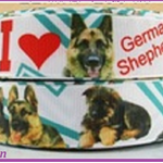 1 Metre GERMAN SHEPHARD, Dogs, Grosgrain Ribbon, 7/8, Crafts