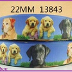 1 Metre, LABRADORE, Dogs, Grosgrain Ribbon, 7/8, Crafts
