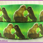 1 Metre, LABRADORE PUPS, Grosgrain Ribbon, Dogs, 7/8, Crafts