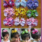 1 x GIRLS HAIRBOW,  10.5 cm, Choose Color