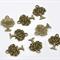 10 Tree Charm Pendants