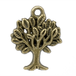 10 Tree Charm Pendants