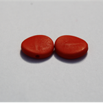 Flat Beads - Red - 15mm - Pack of 15