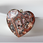 Earthy Agate Heart Pendant with bail