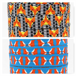 FOE FOLD OVER ELASTIC - FOXES PRINTS BY THE METRE