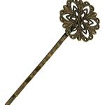 Hairpin Brass Filigree Star Pkt 10